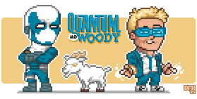 Quantum and Woody... and Goat
