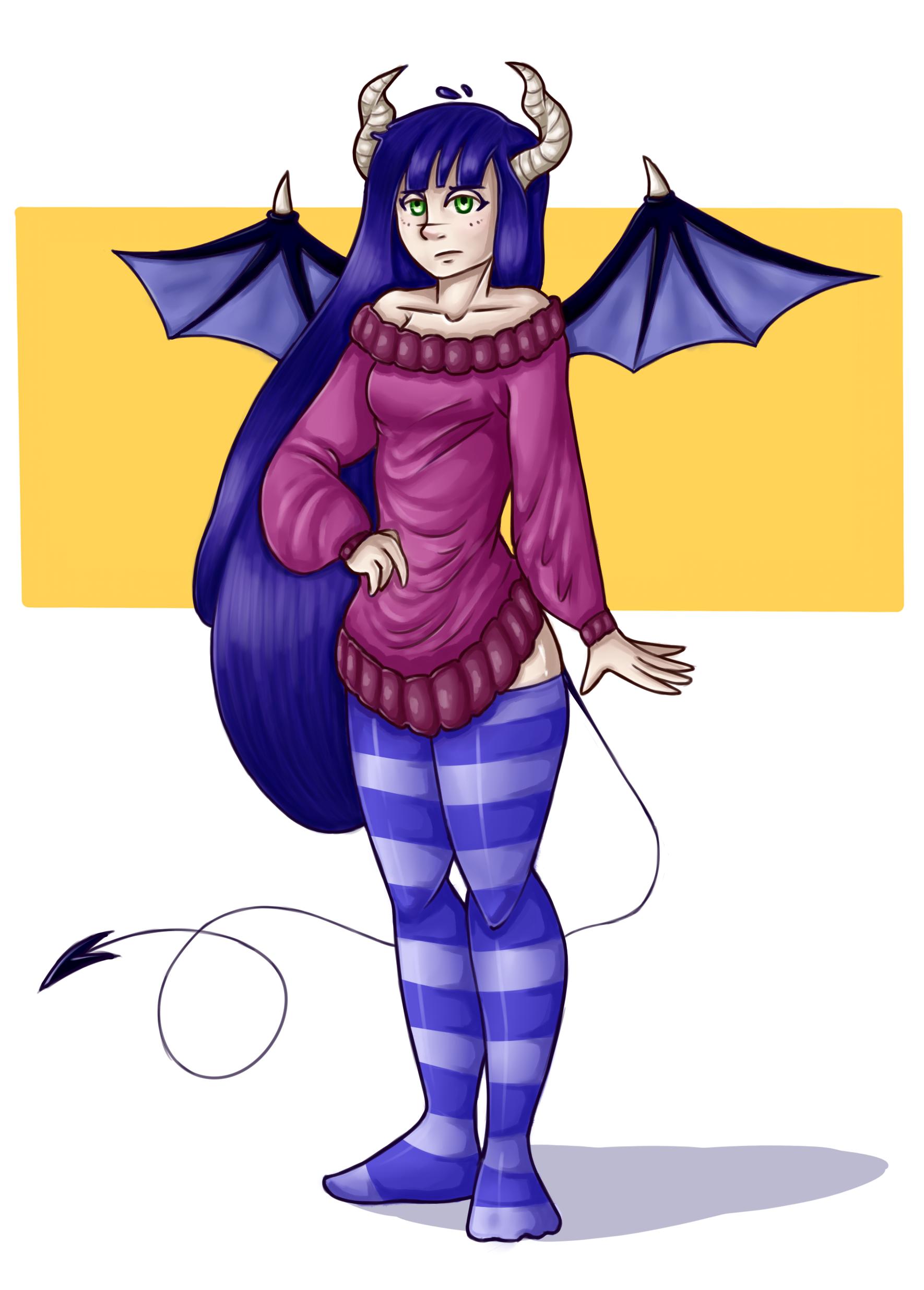 generic demon girl
