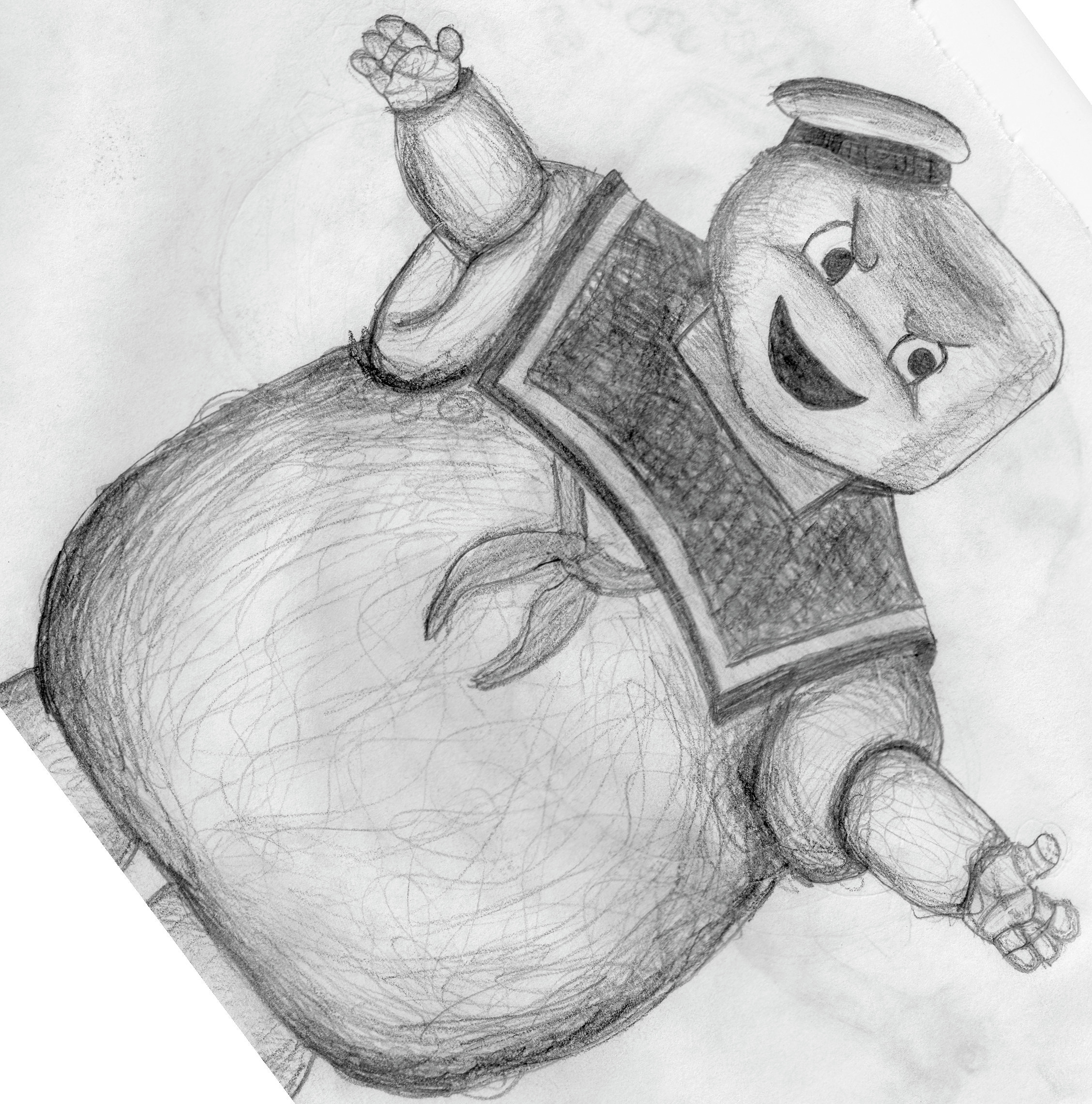 Ghostbusters Stay Puft Sketch