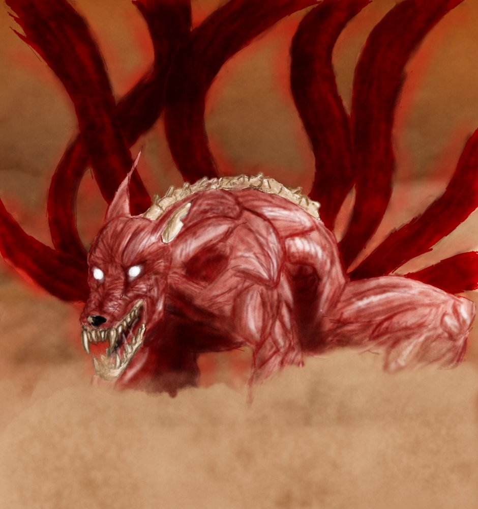 eight tailed Naruto