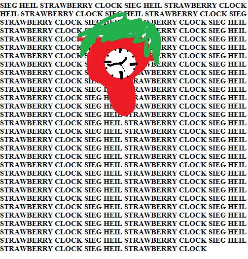 SIEG HEIL STRAWBERRY CLOCK