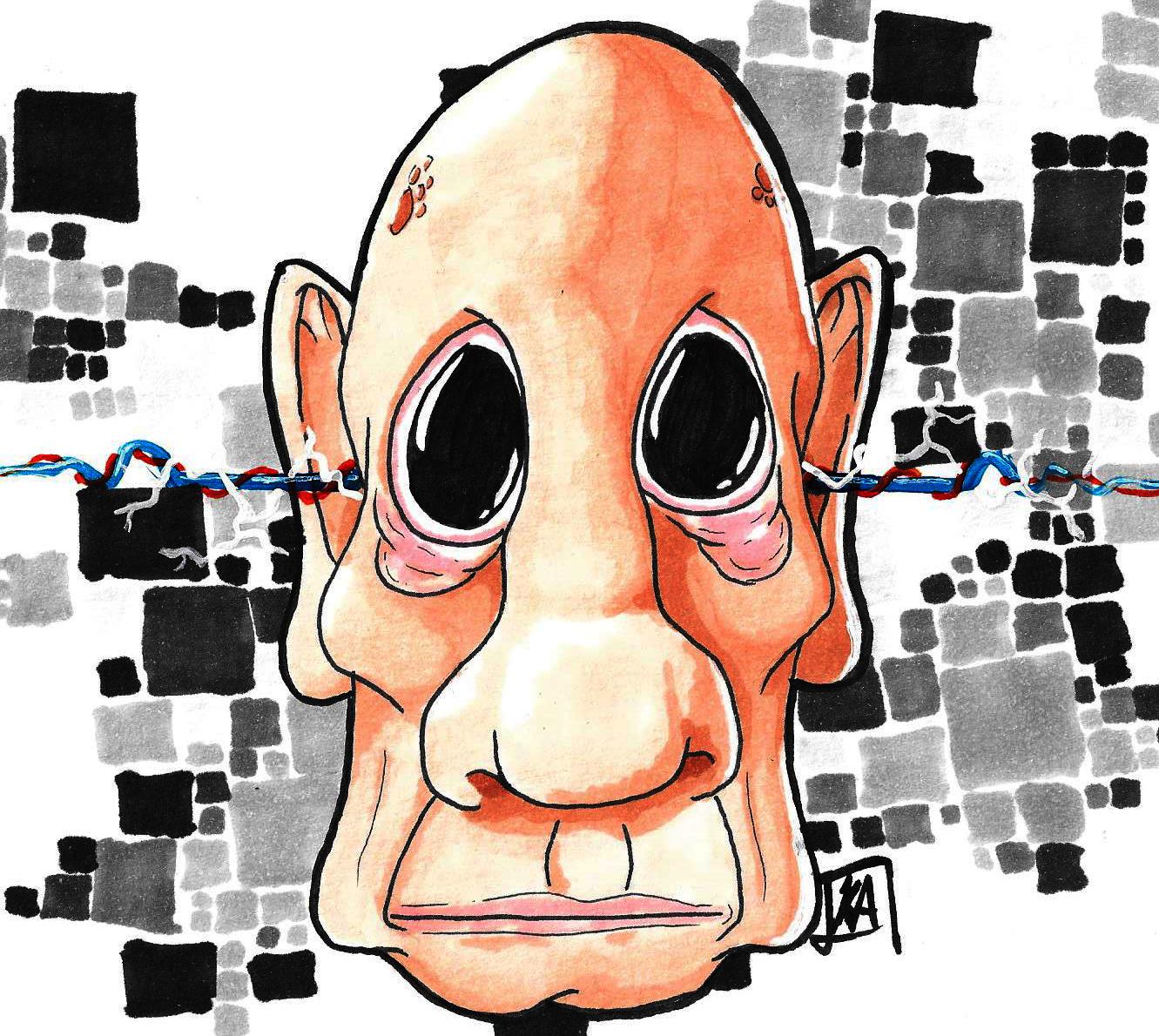 Saggy Bald Man