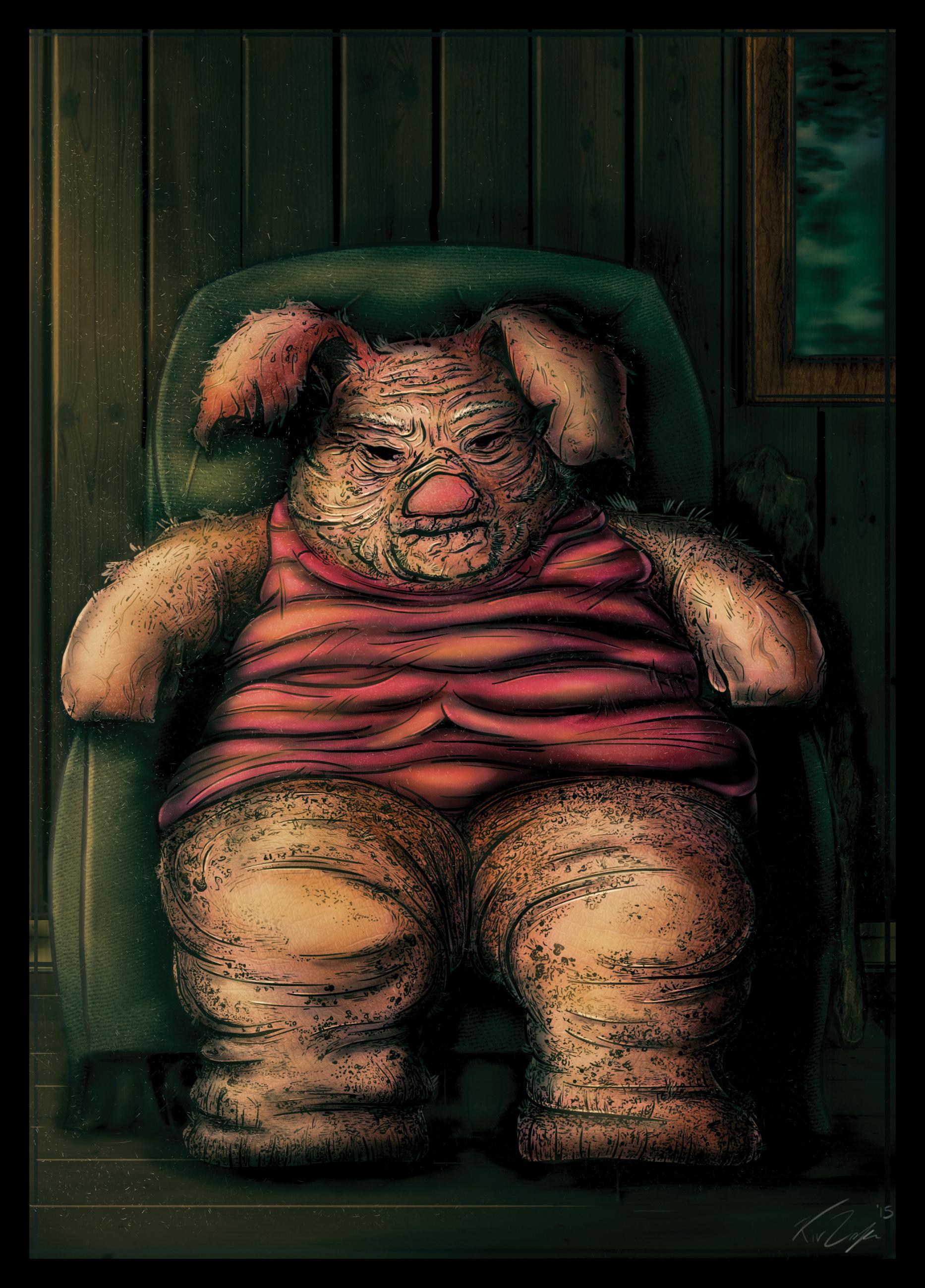 Piglet was tiny, Piglet was cute...