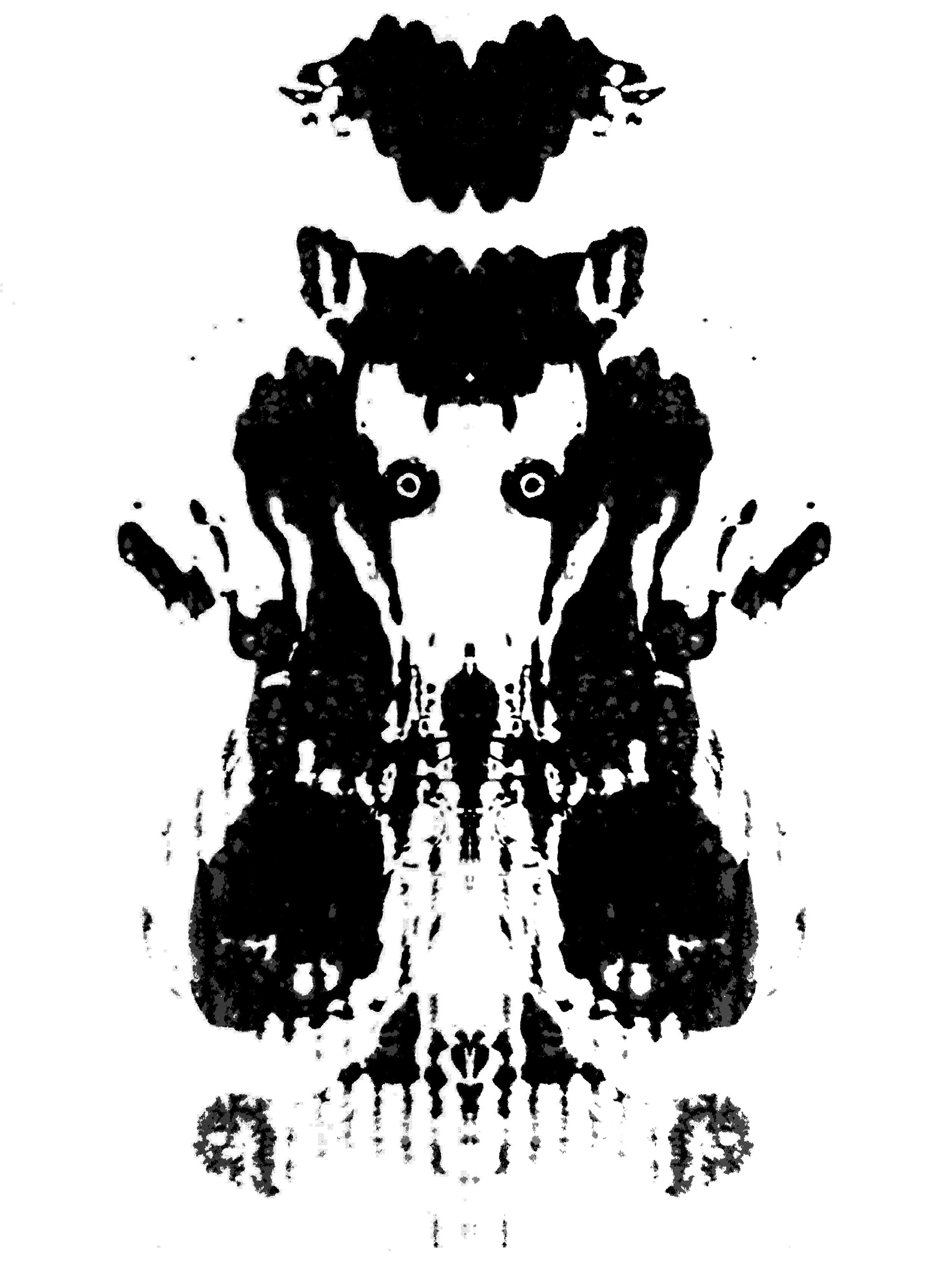 Staring monotype (Rorschach edition)