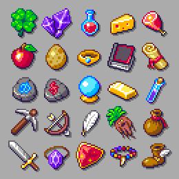 RPG items set