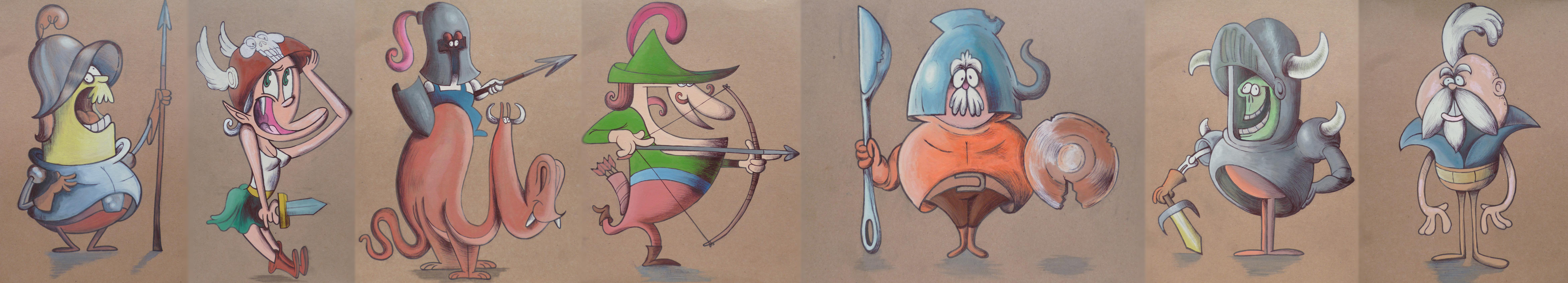 Watercolour warriors