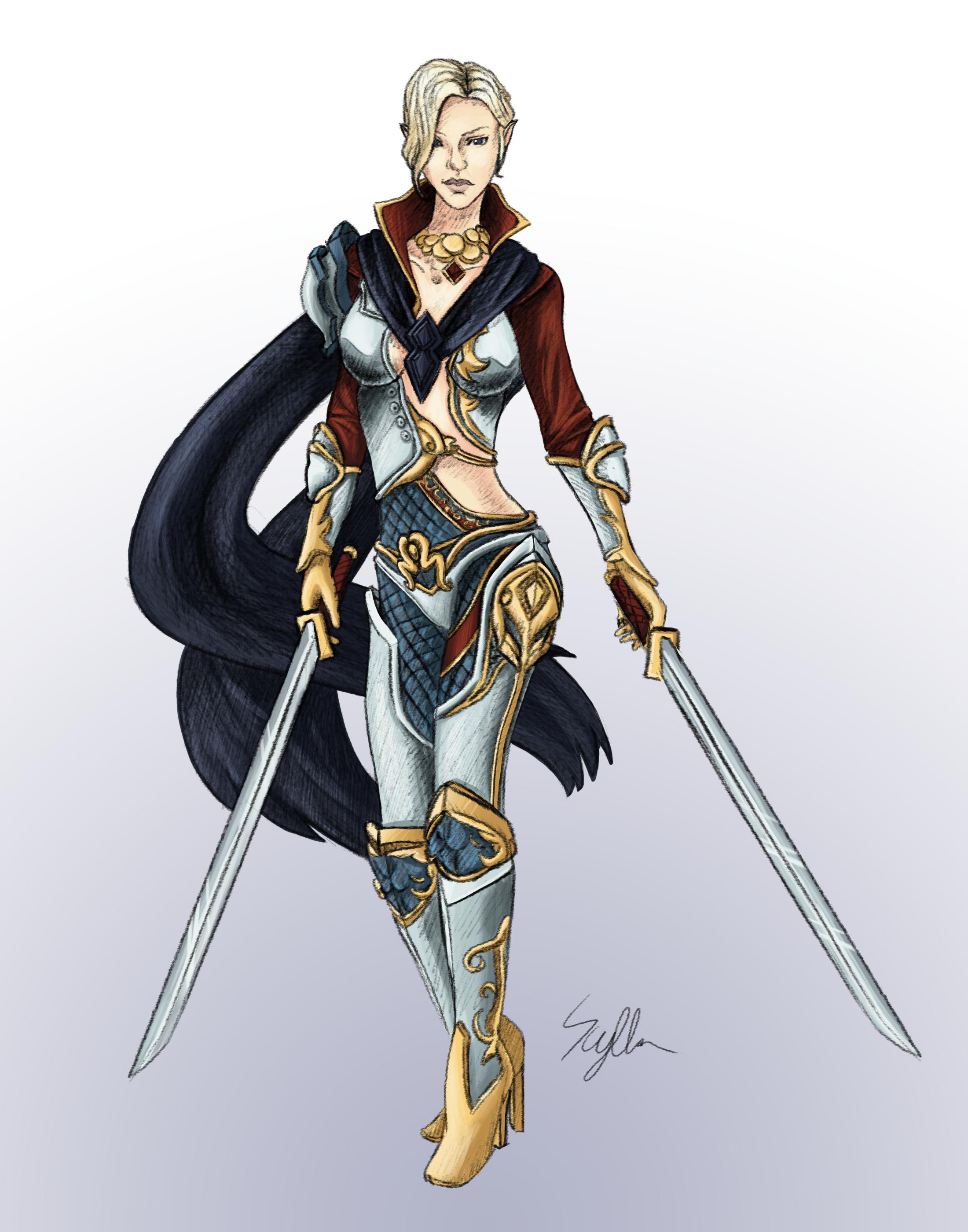 Fiohari - High Elf Warrior