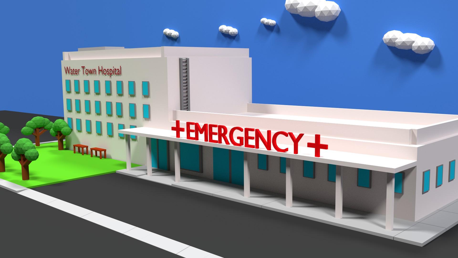 Low-Poly Hospital