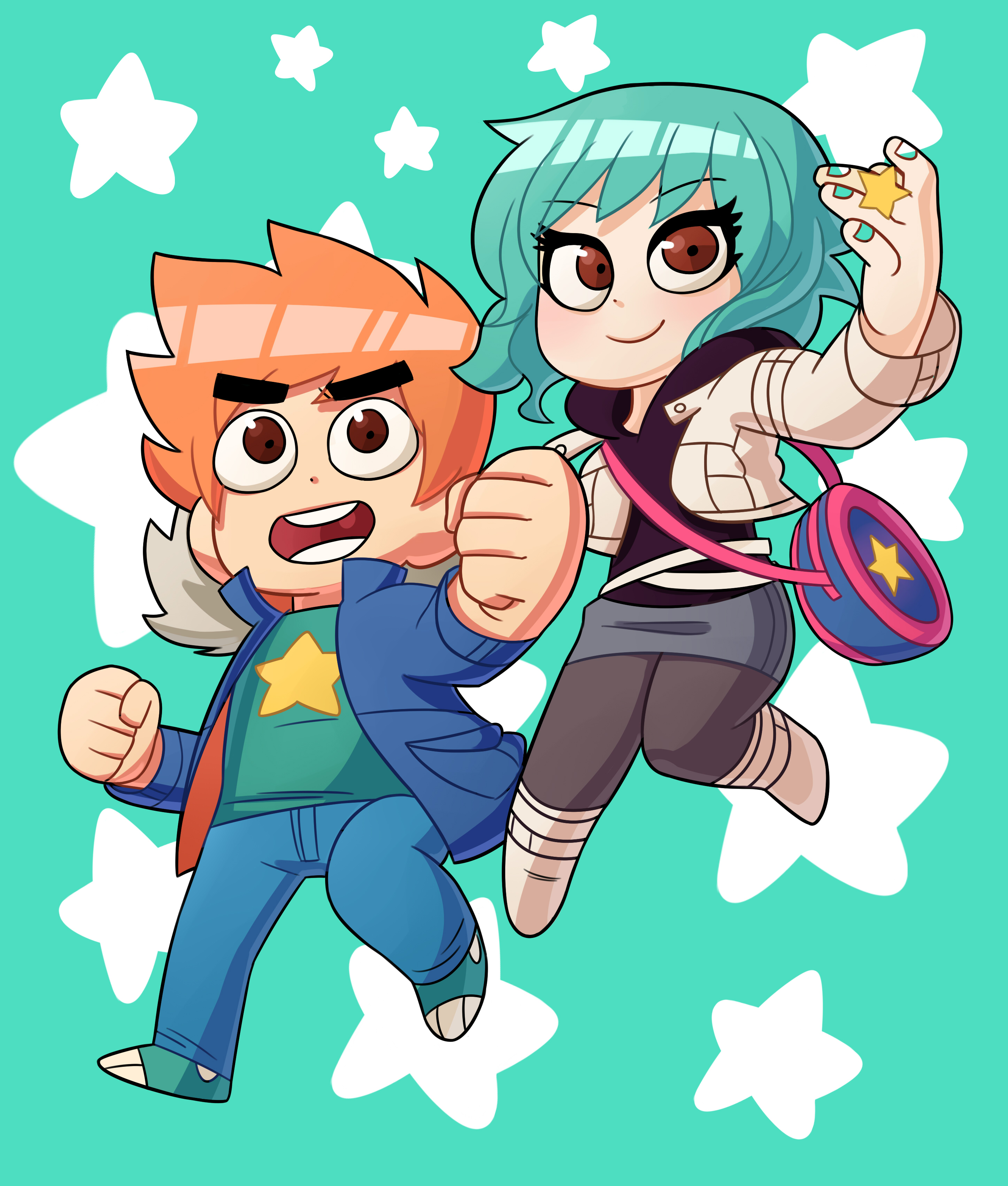 Scott and ramona chibi
