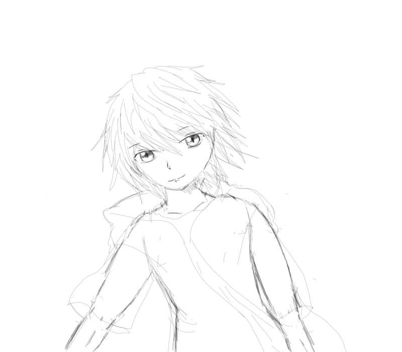 Shiro- drawn in SAI