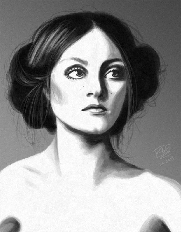 Portrait Study [Greyscale]