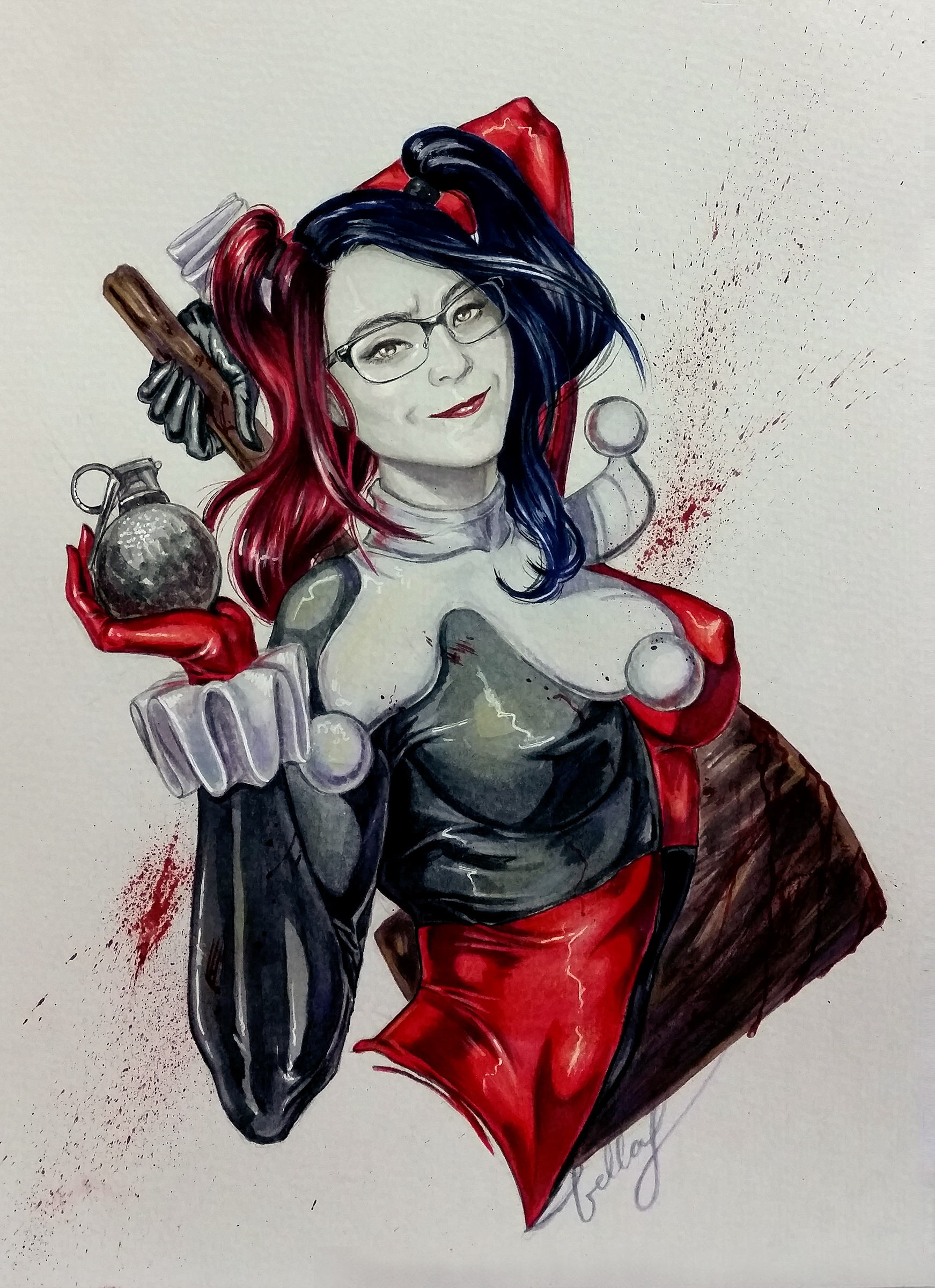 Geeky Harley commission