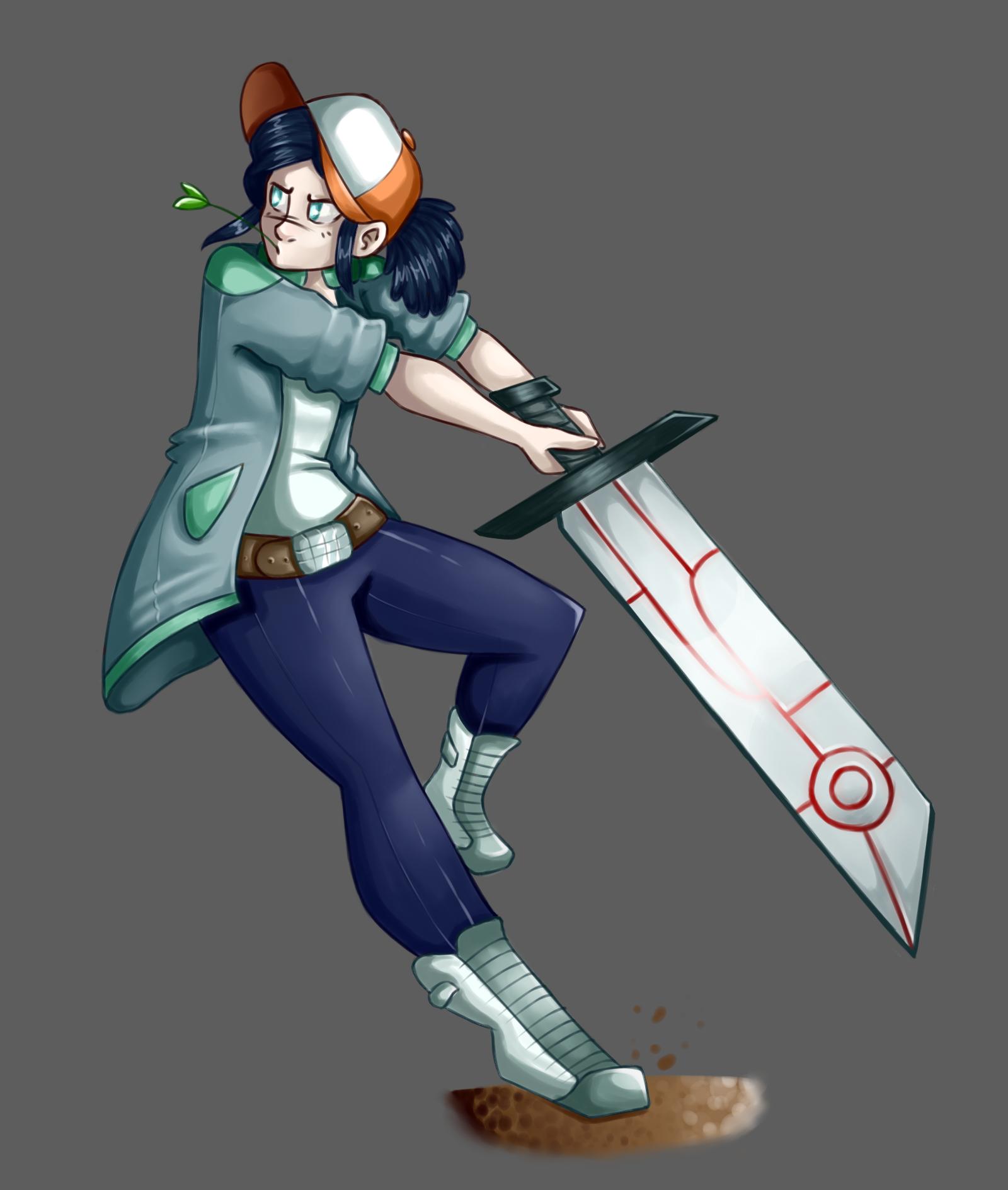 a giant sword