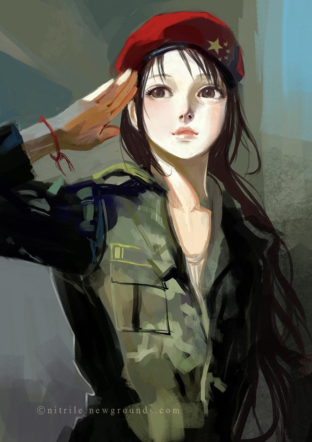 chinese boy salute