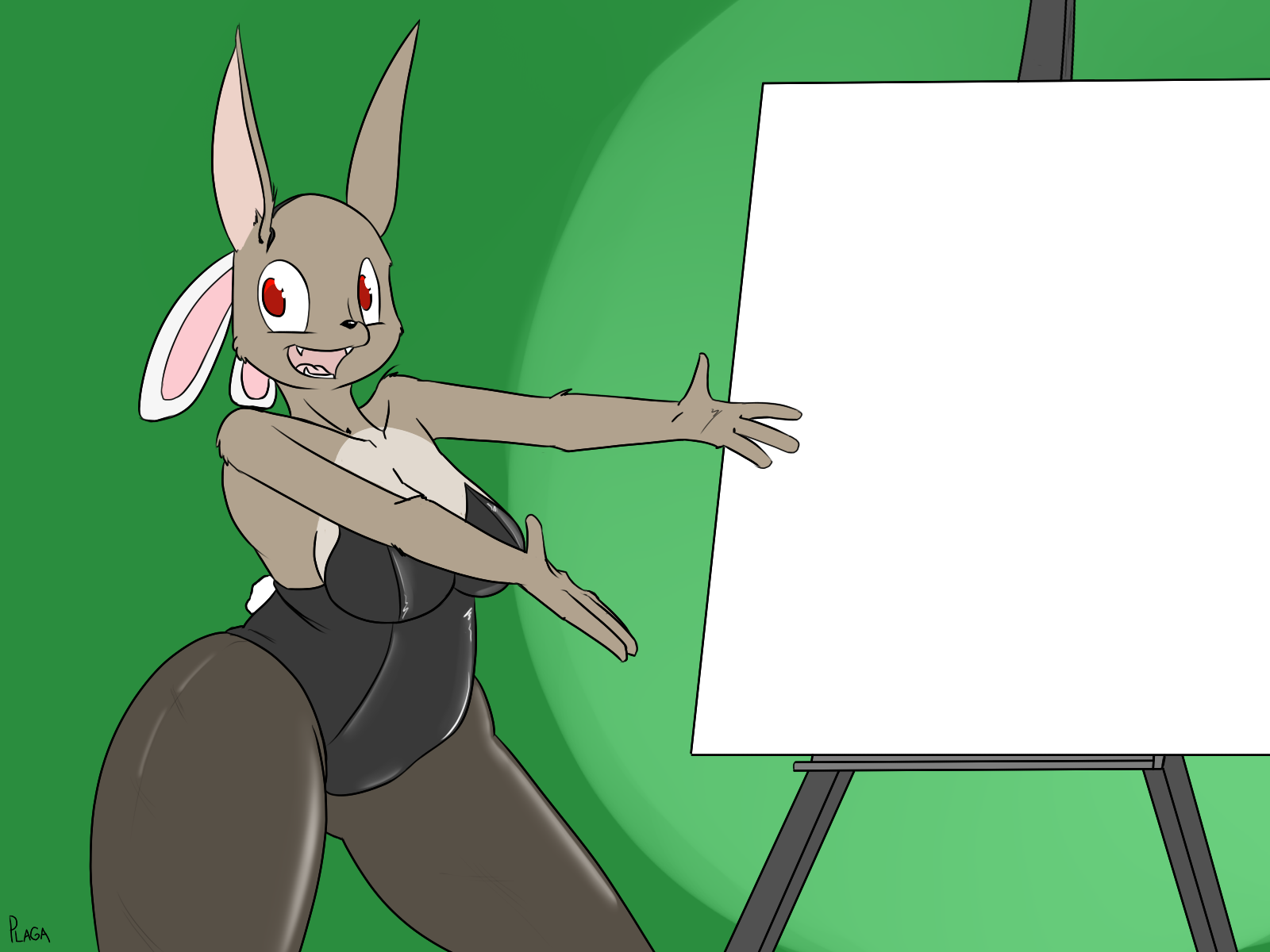 Overprized blank canvas