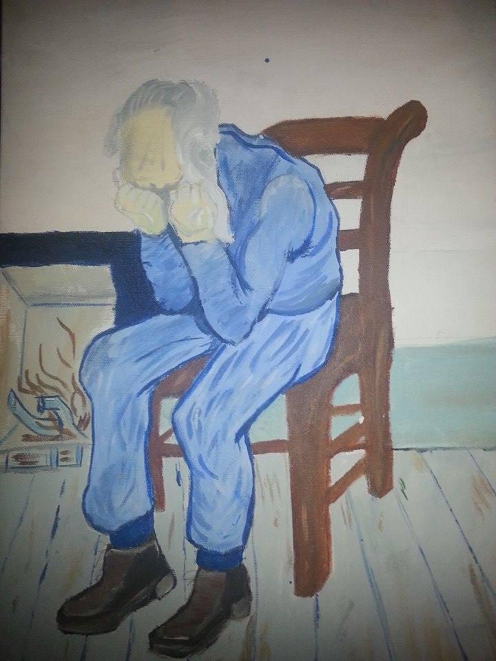 Sorrowing Old Man - Vincent Van Gogh