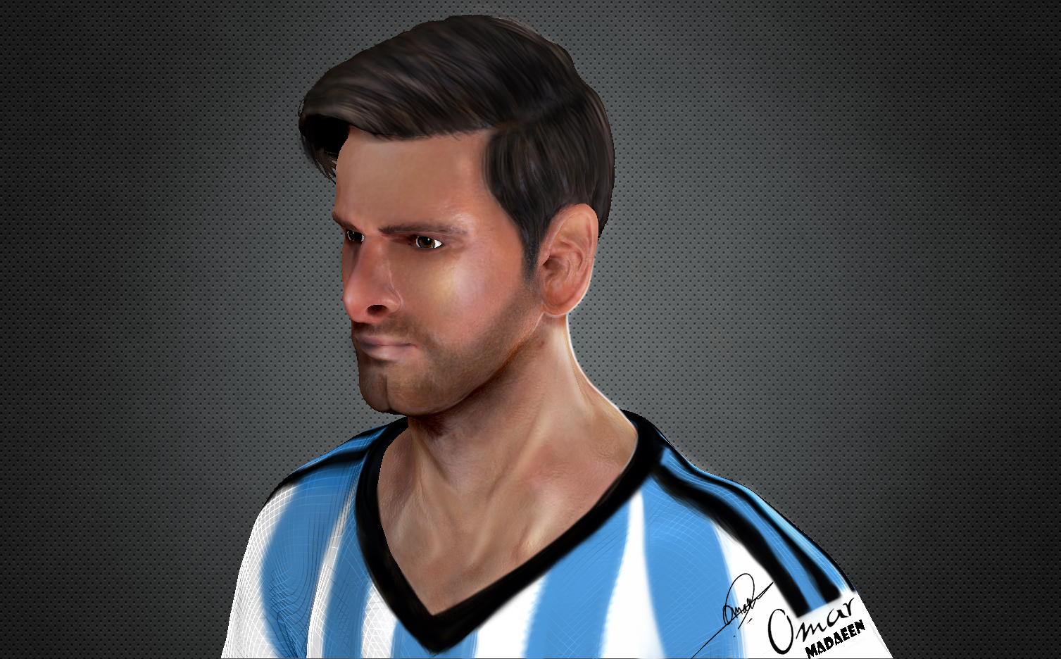 Leo Messi Side view