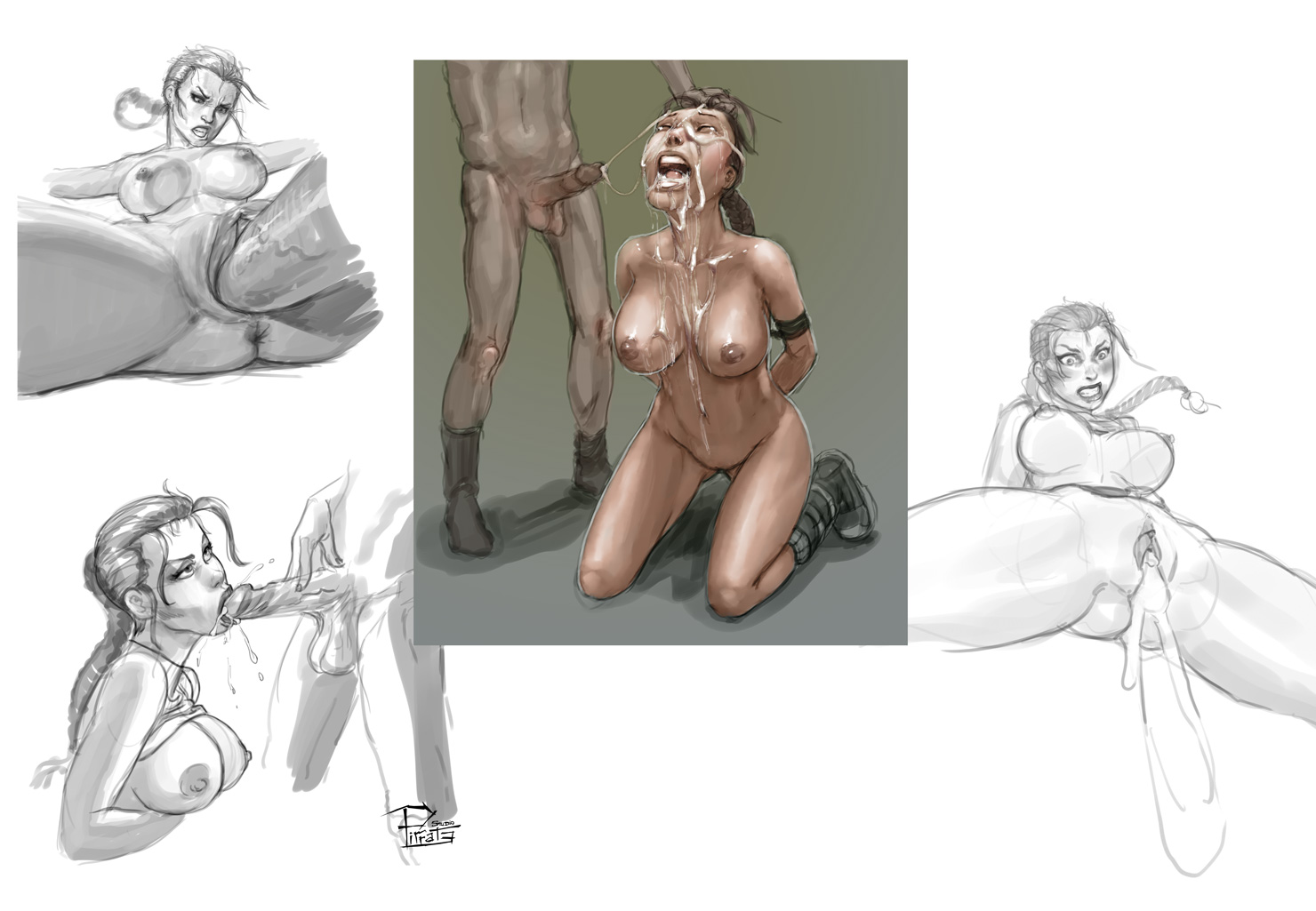 Lara sketches collage