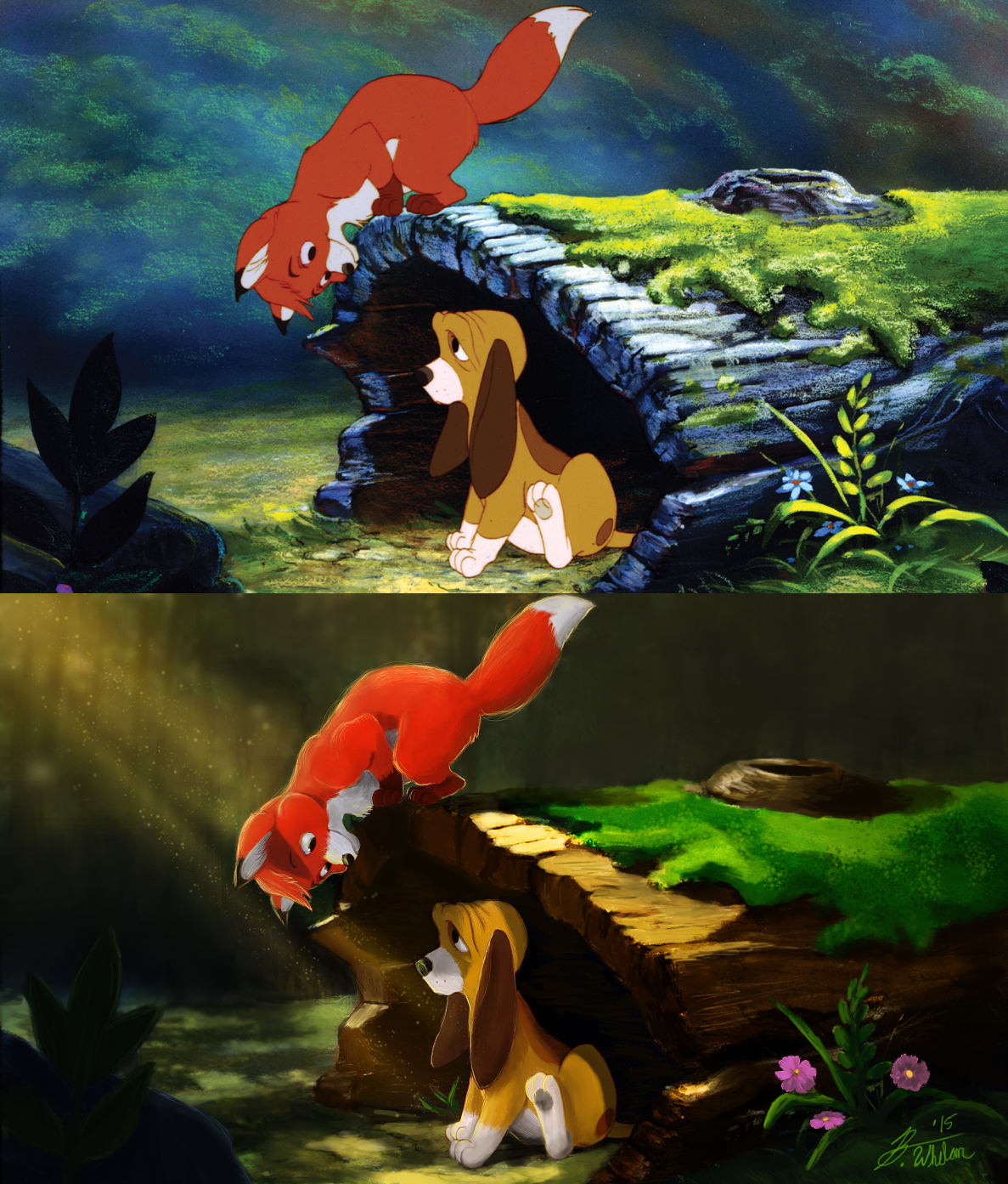 Tod and Copper (The Fox and the Hound) (Before and After)