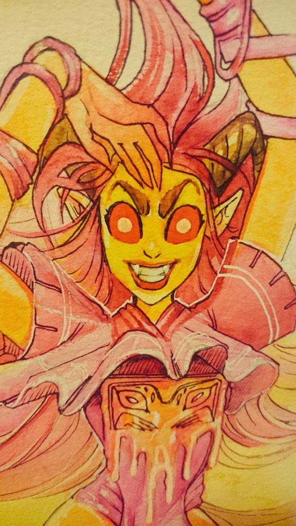 Ava's Demon - Vengess Watercolor