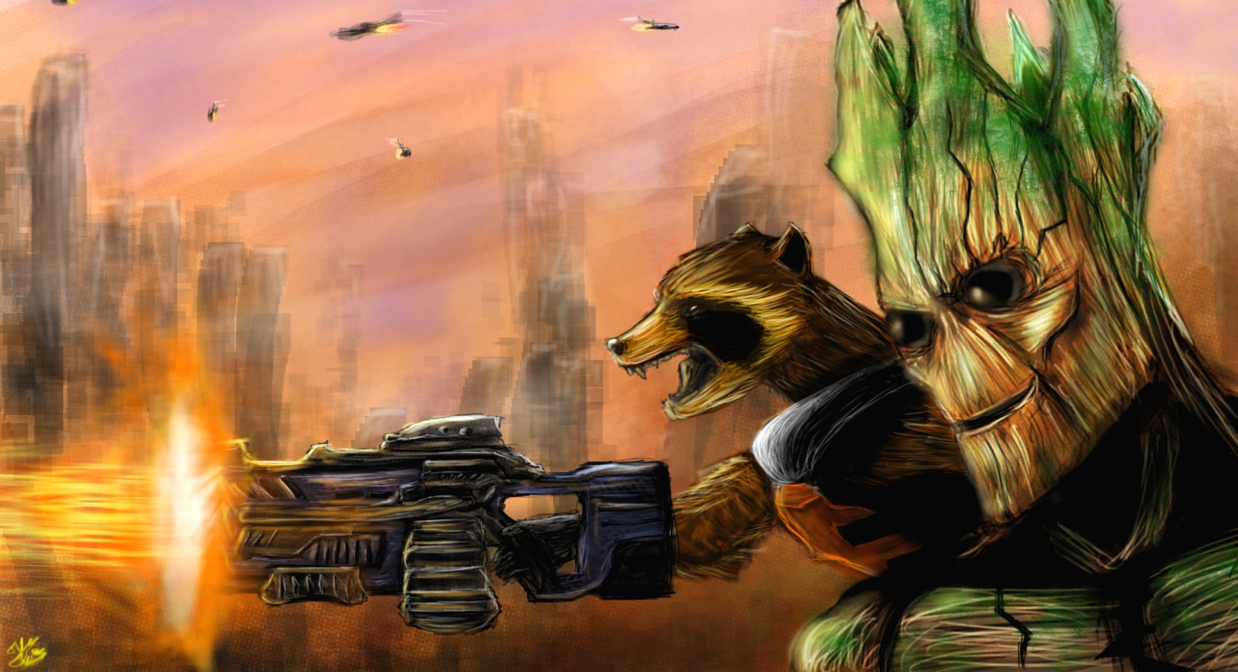 GROOT AND ROCKET!!