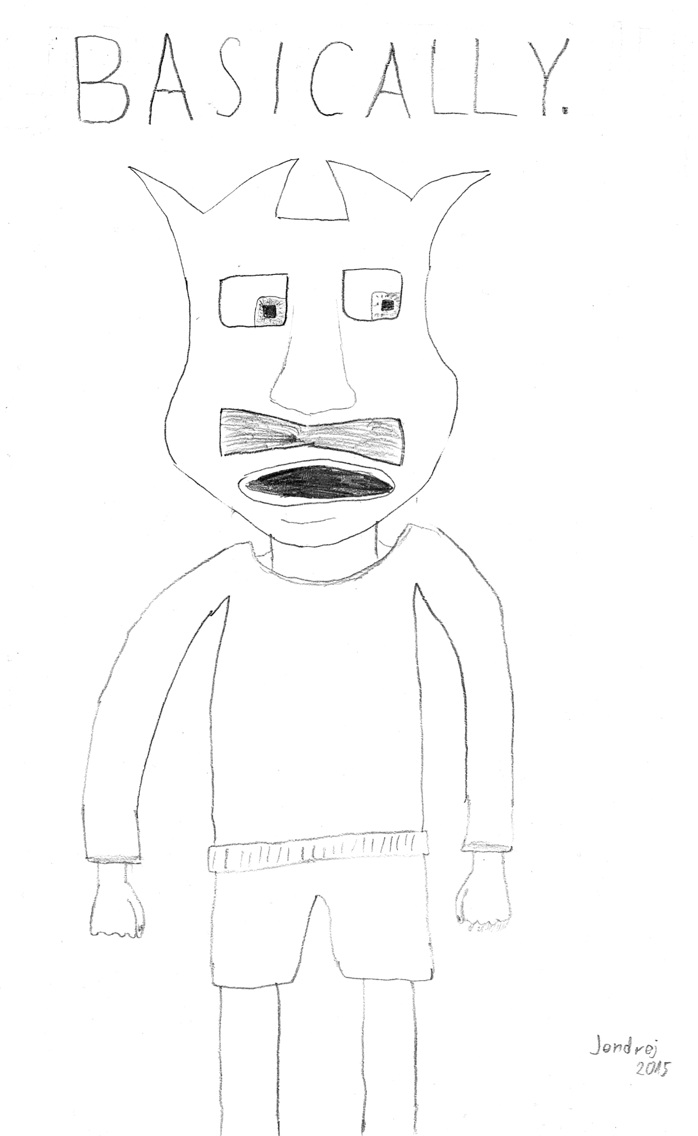 The guy with square eyes and a moustache
