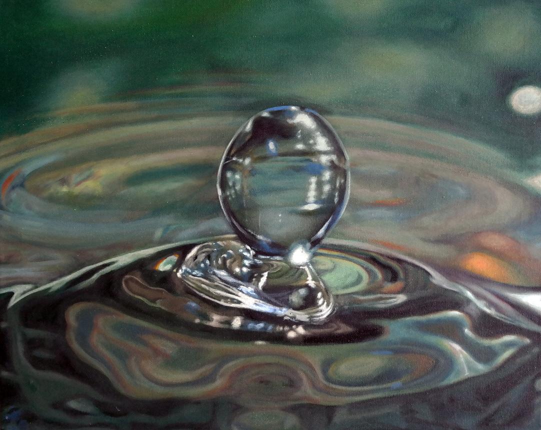 Waterdroplet (green)