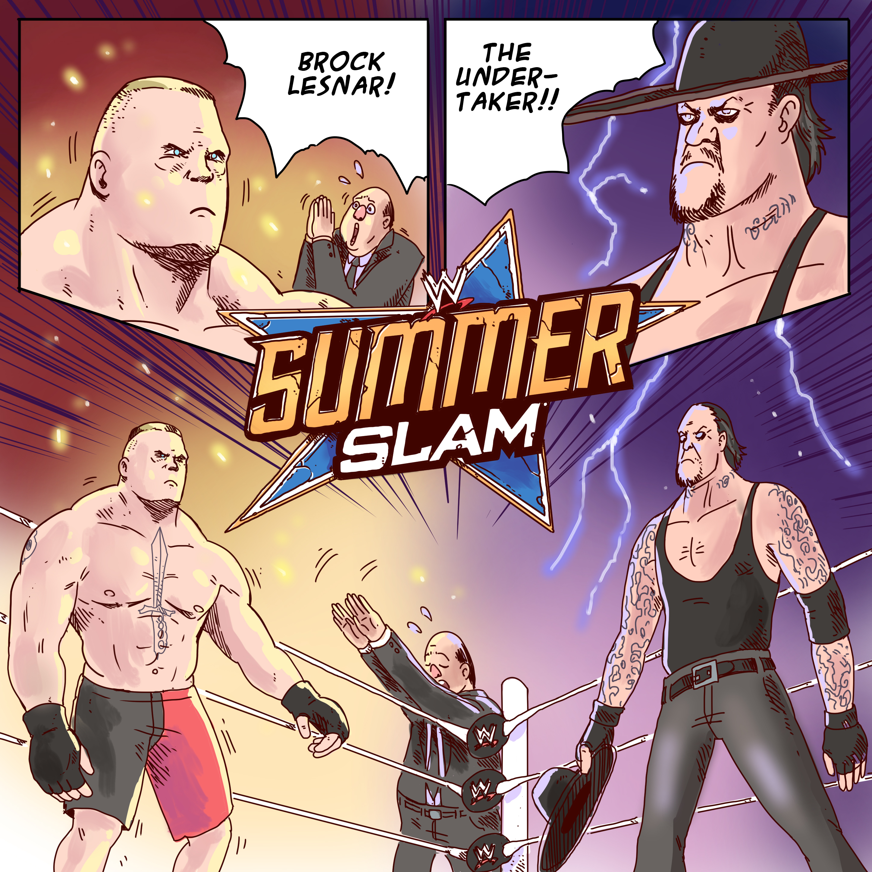 SUMMERSLAM BROCK LESNAR VS. THE UNDERTAKER