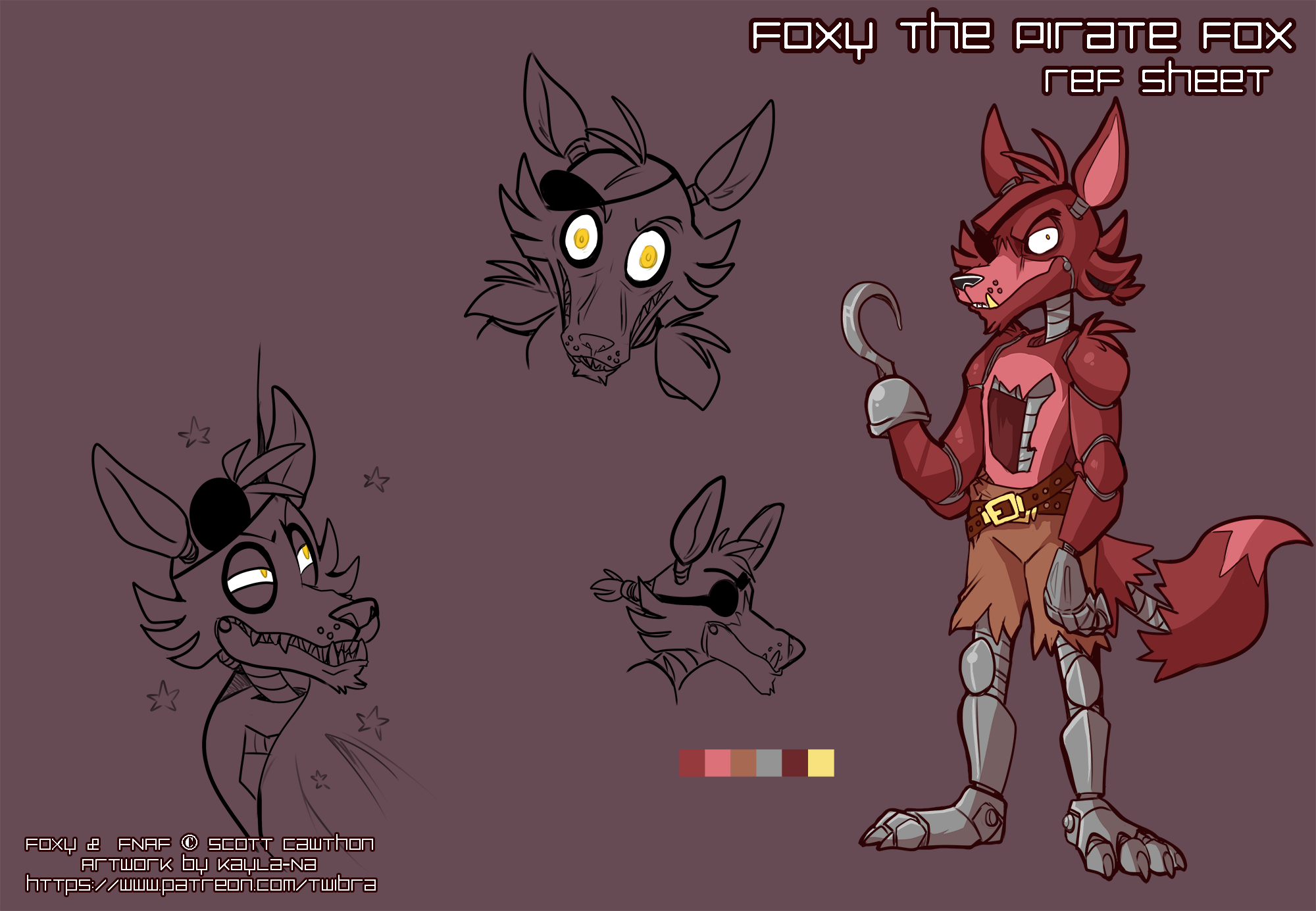 FNAF - Foxy Ref Sheet