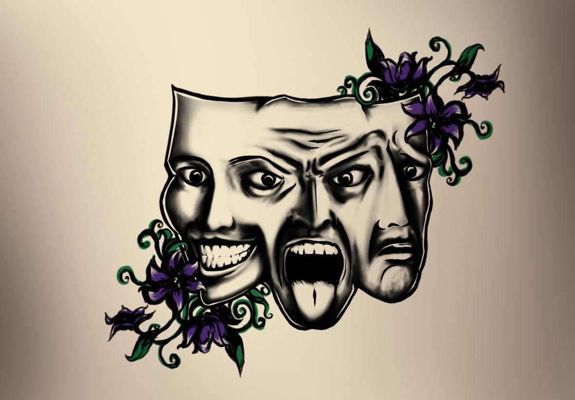 Mask tattoo - Emotions