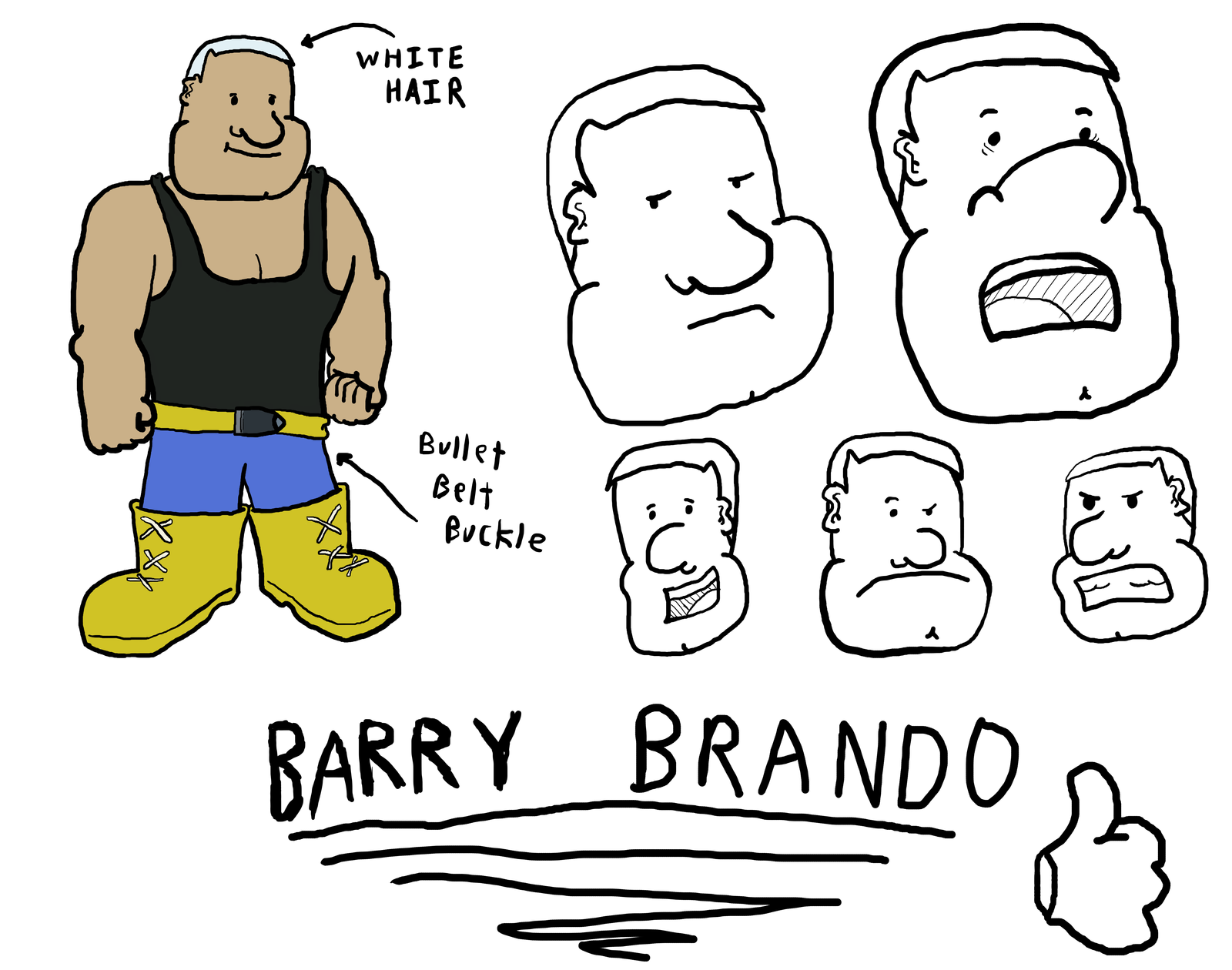 Barry Brando - character sheet