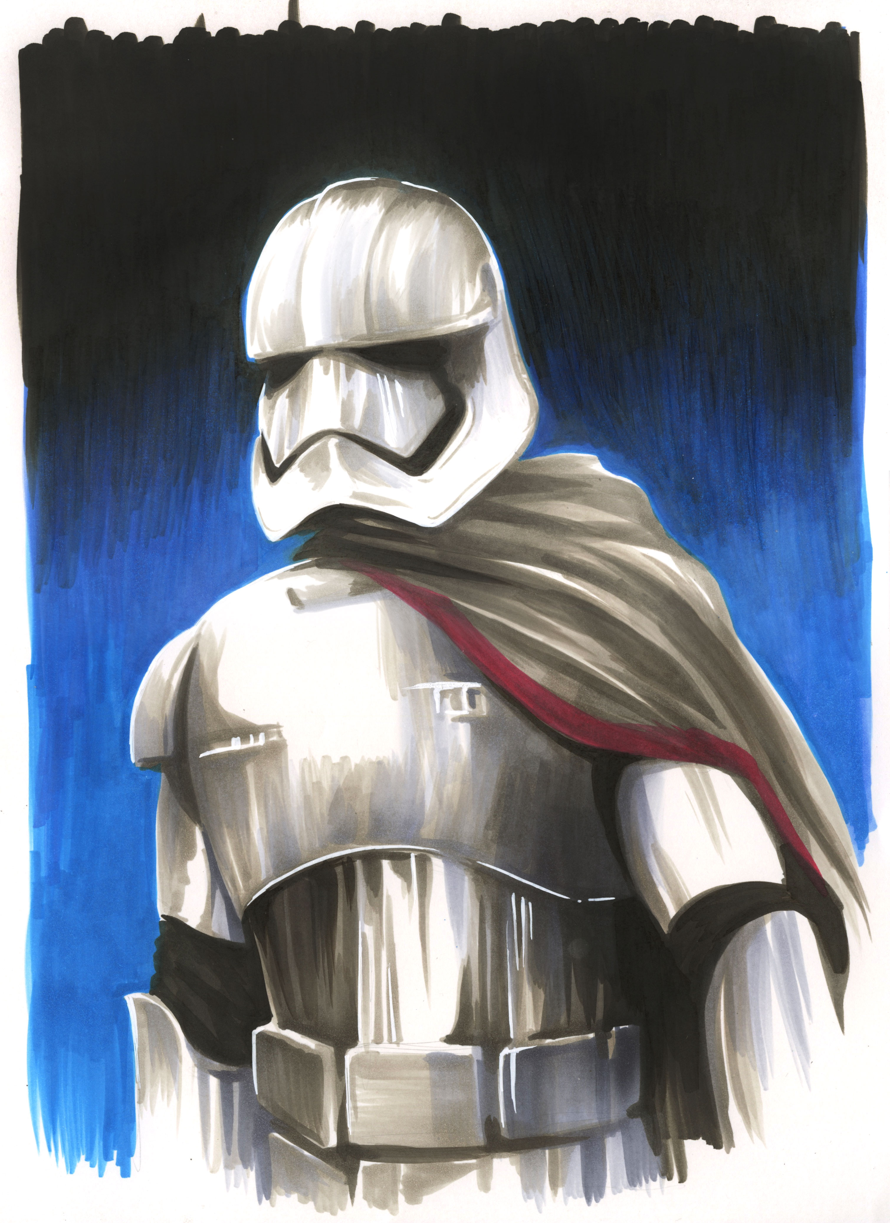 Captain Phasma with Copic Markers