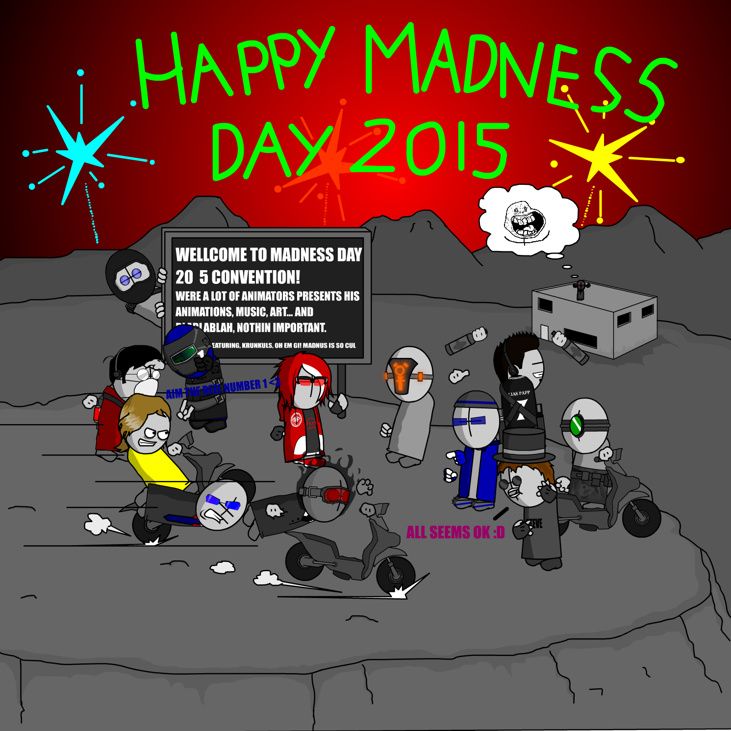 Madness Day Post Card 2015