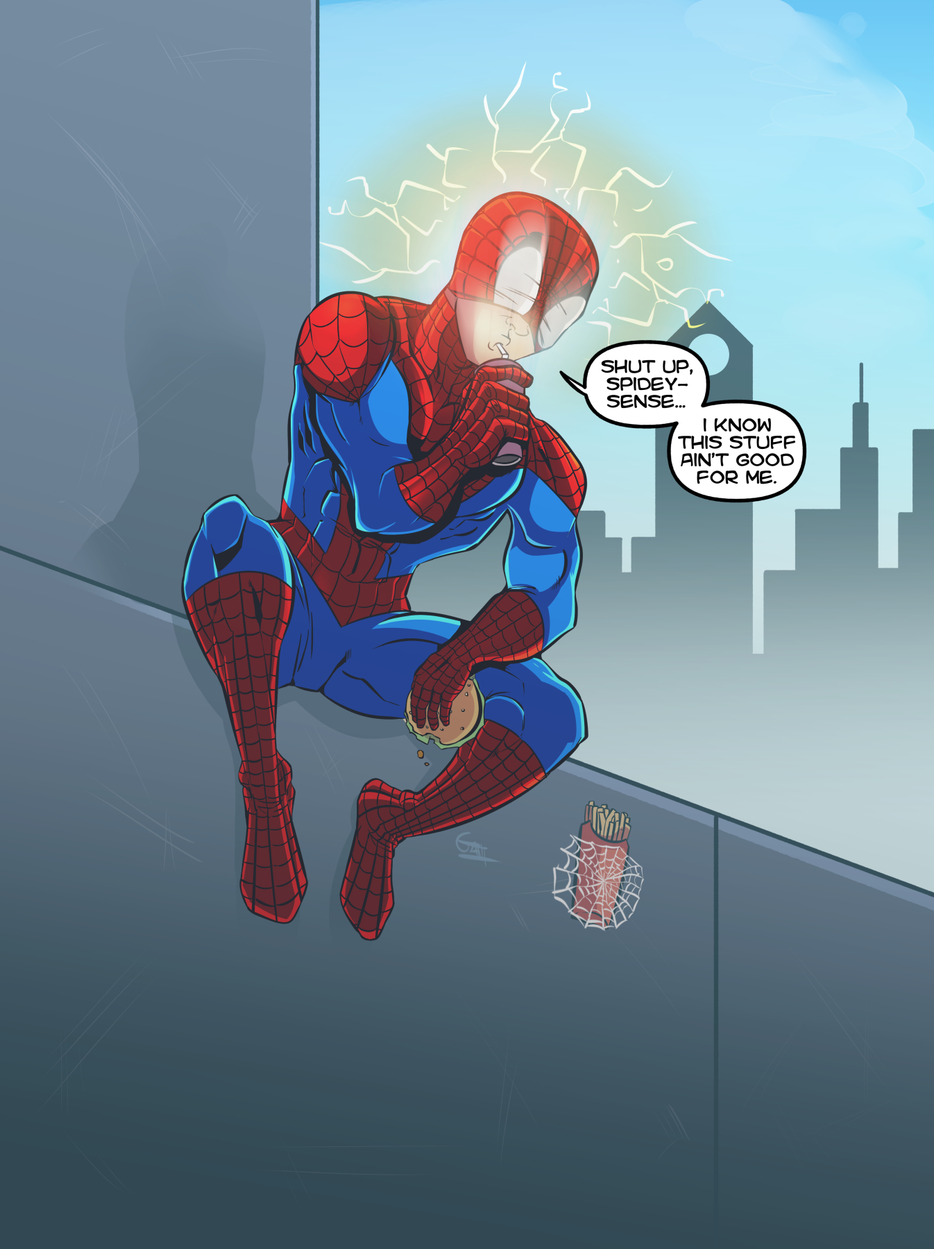 Superheroes Gotta Eat.