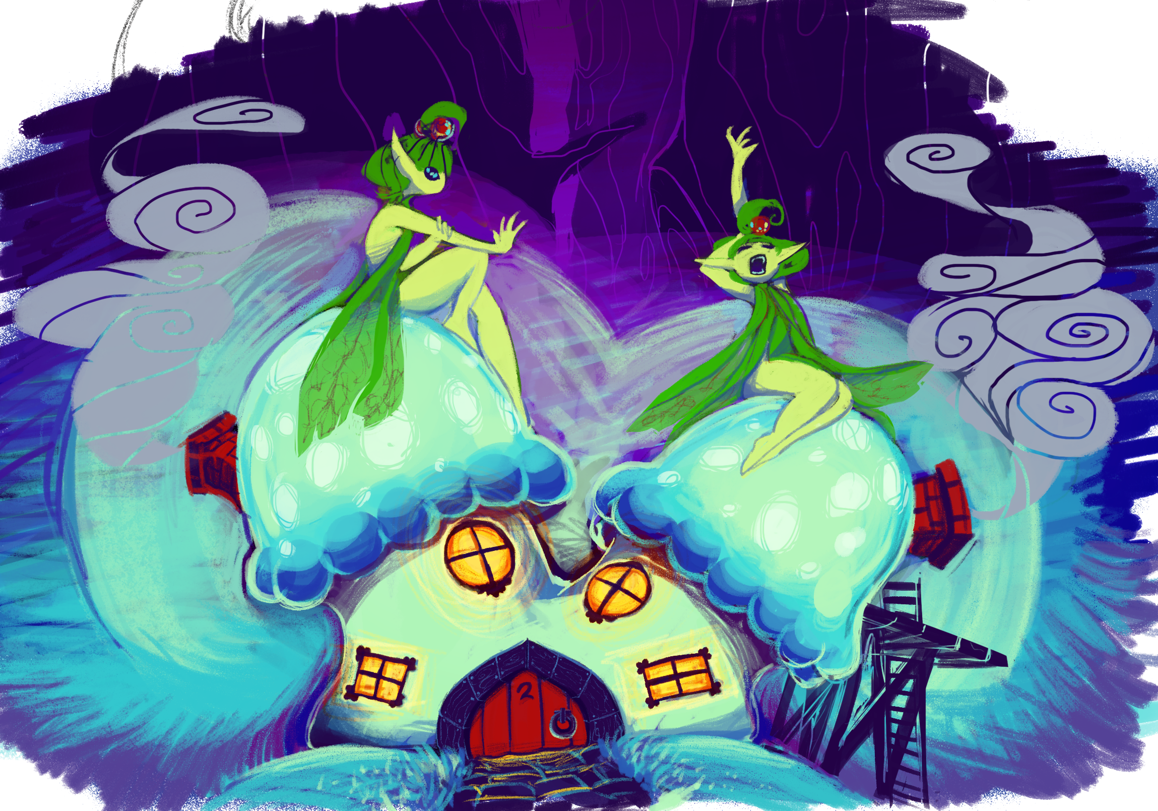Fairies and brownie houses!