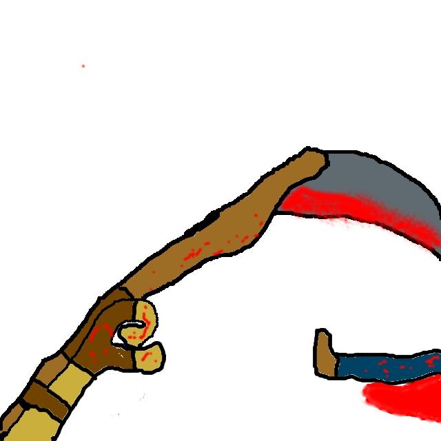 Death by hand scythe