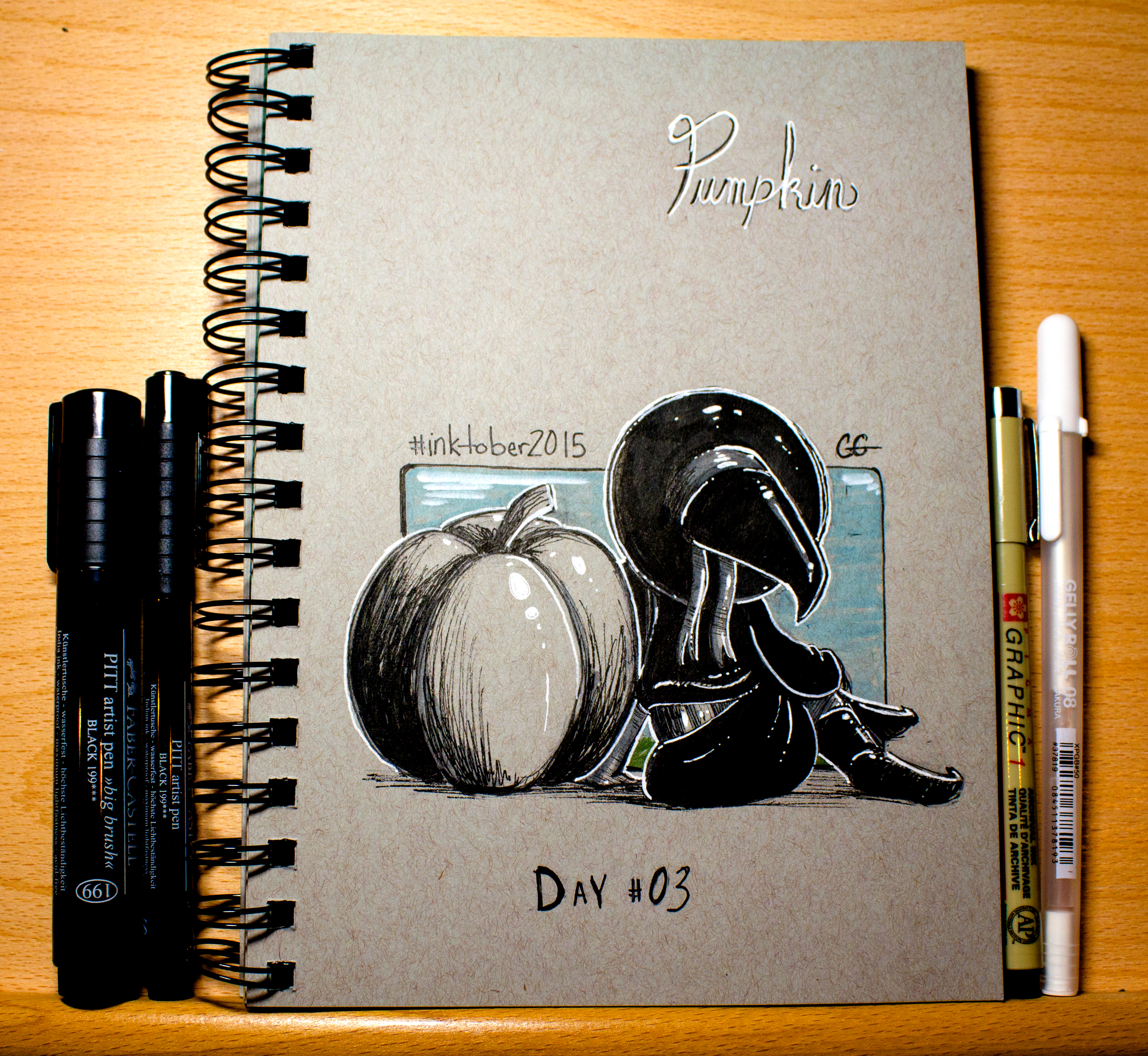 Pumpkin Inktober 2015 - Day 3