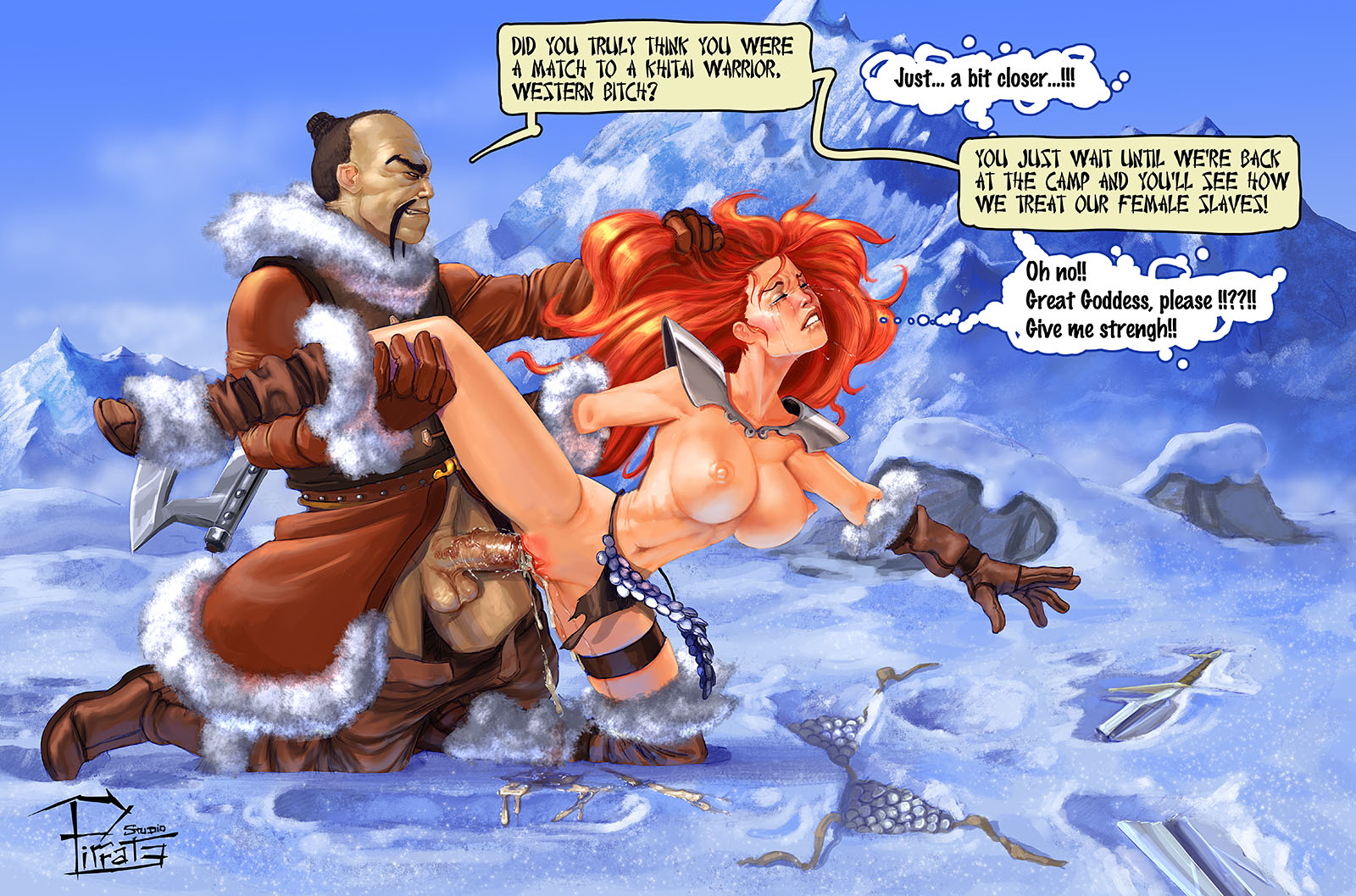 RedSonja abused by a Kithai