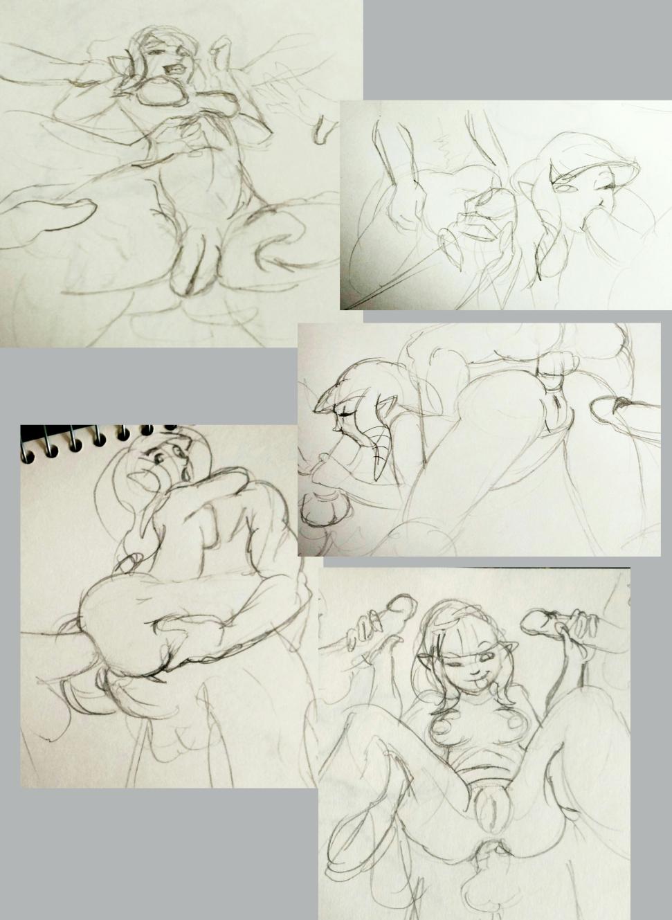 Zelda gangbang sketch dump