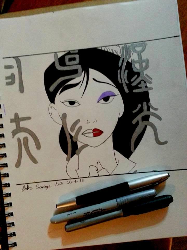 Mulan Fanart for Inktober 2015