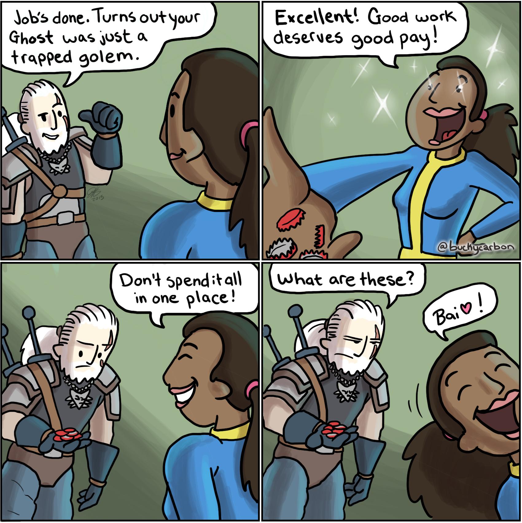 Geralt of Rivet City 007: Payment