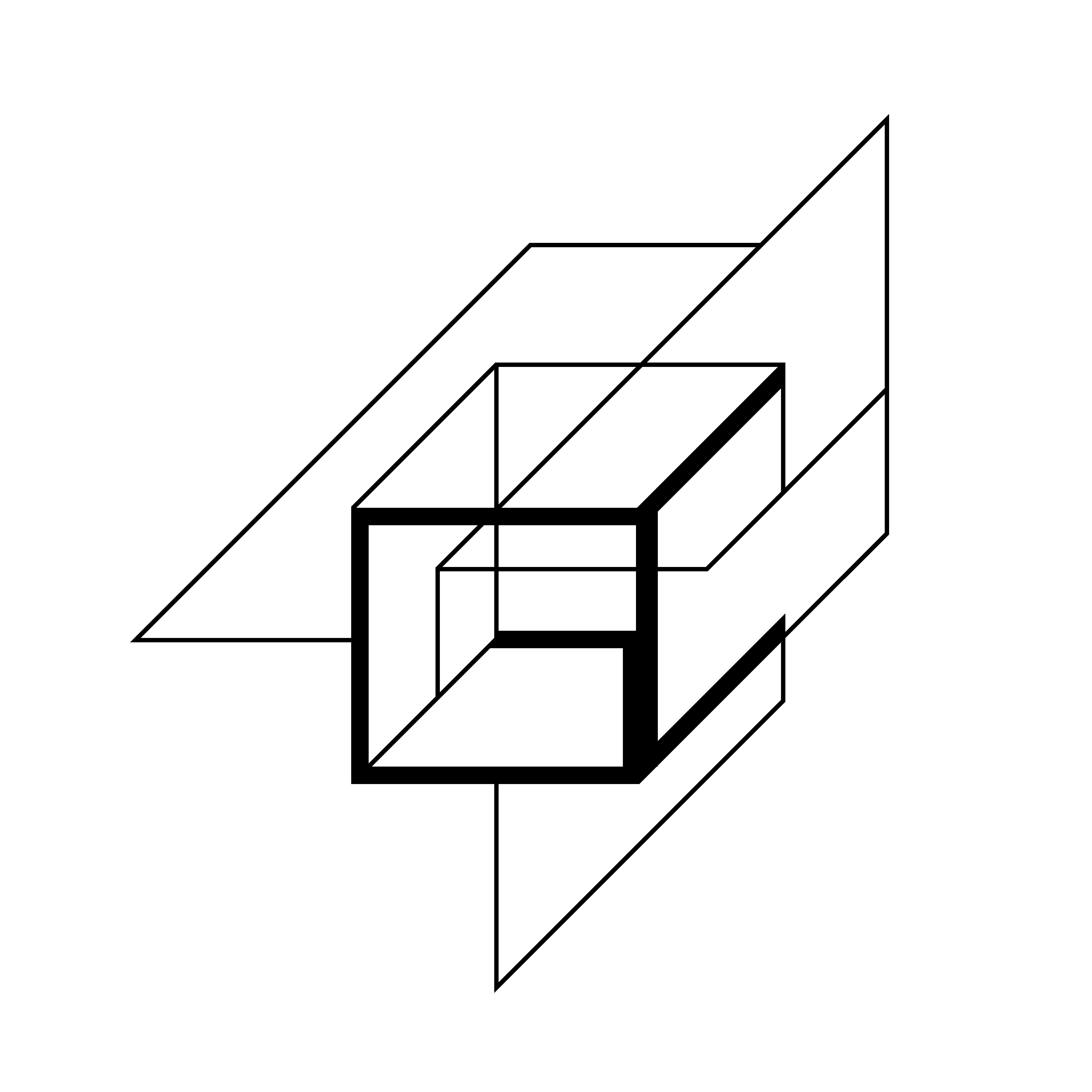 GC Lineart isometric logo design