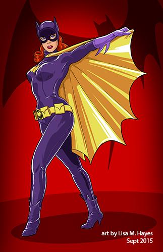 Batgirl and Uhura mini-posters! By Lisa!