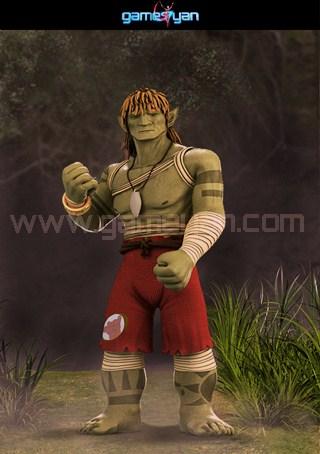 3d Warrior Creature Characters Models