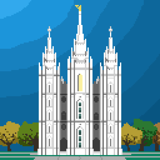 Pixel Salt Lake City Temple