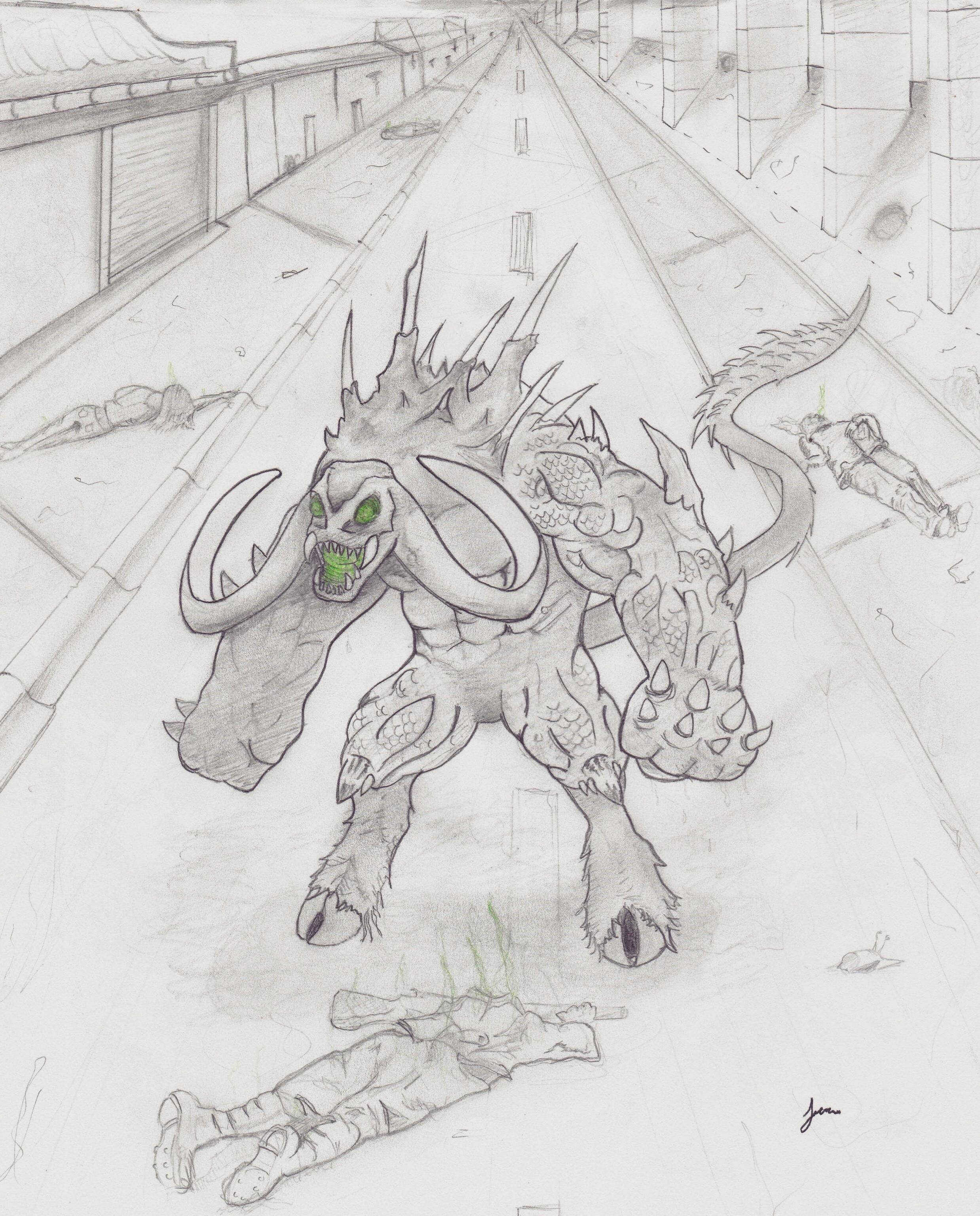 The Grimataur of Velcrank city