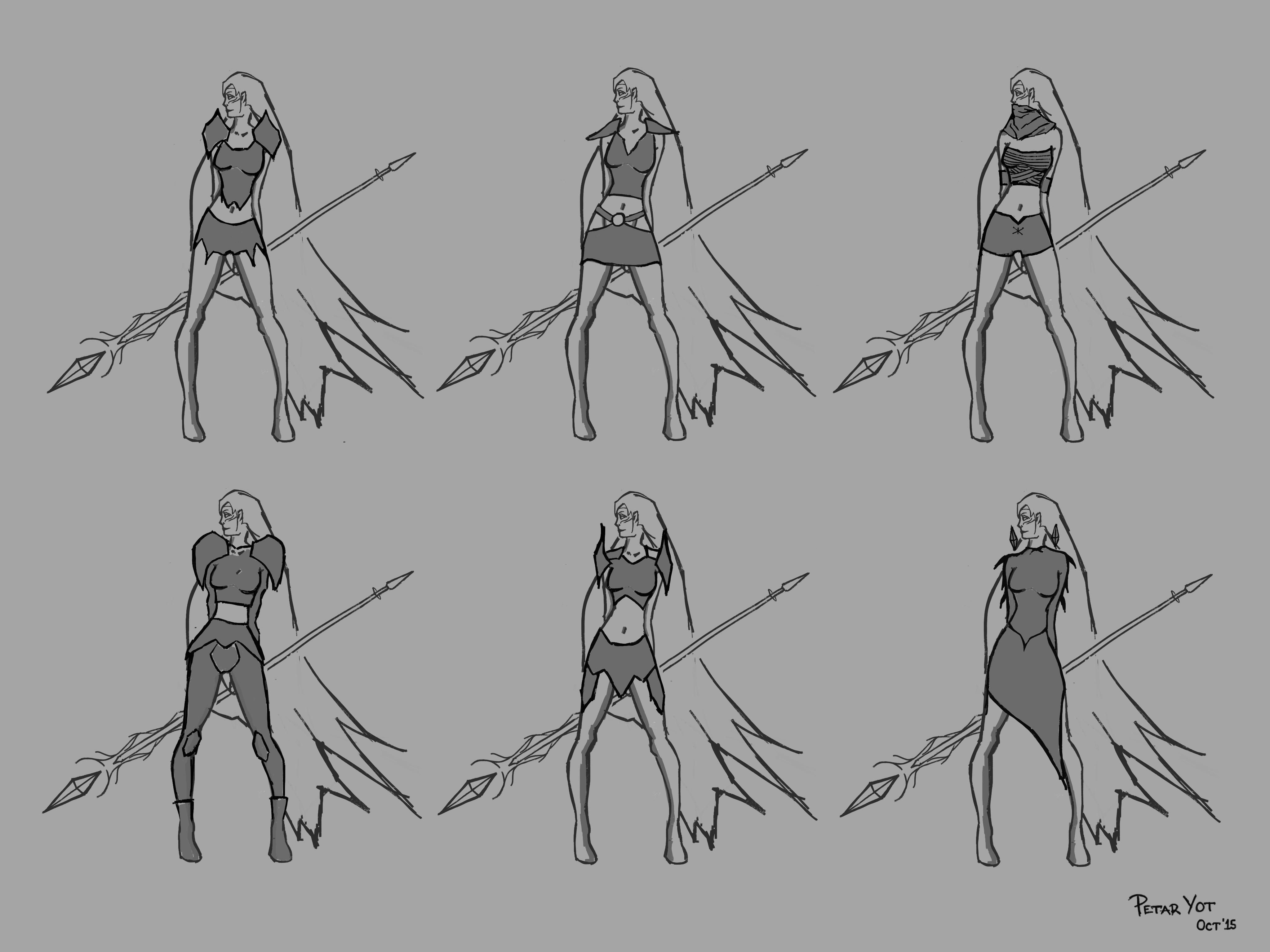 Arieya - WIP (Early armour ideas)