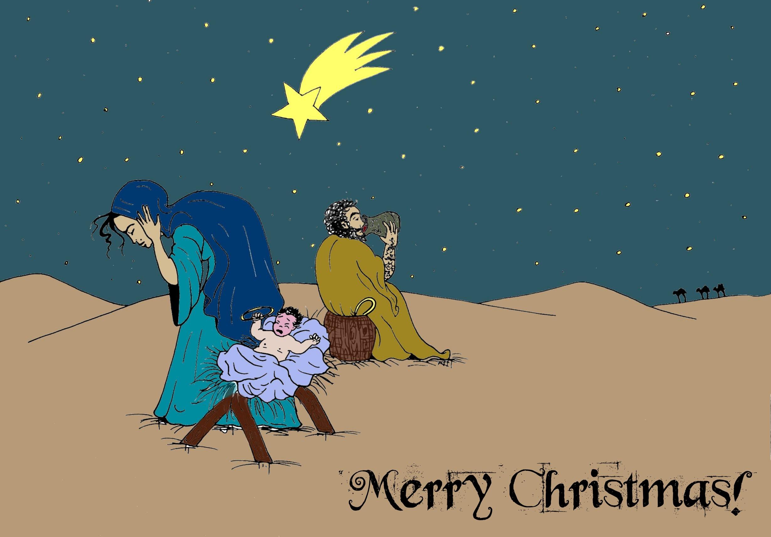 True Christmas Postcard