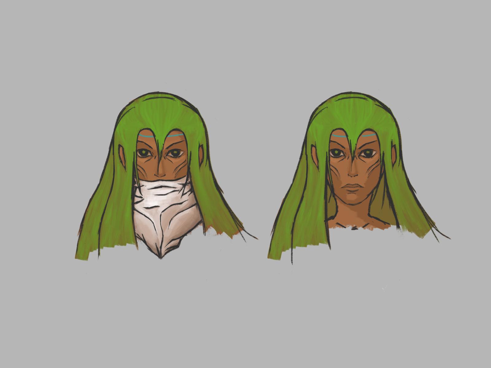 Arieya - Character face