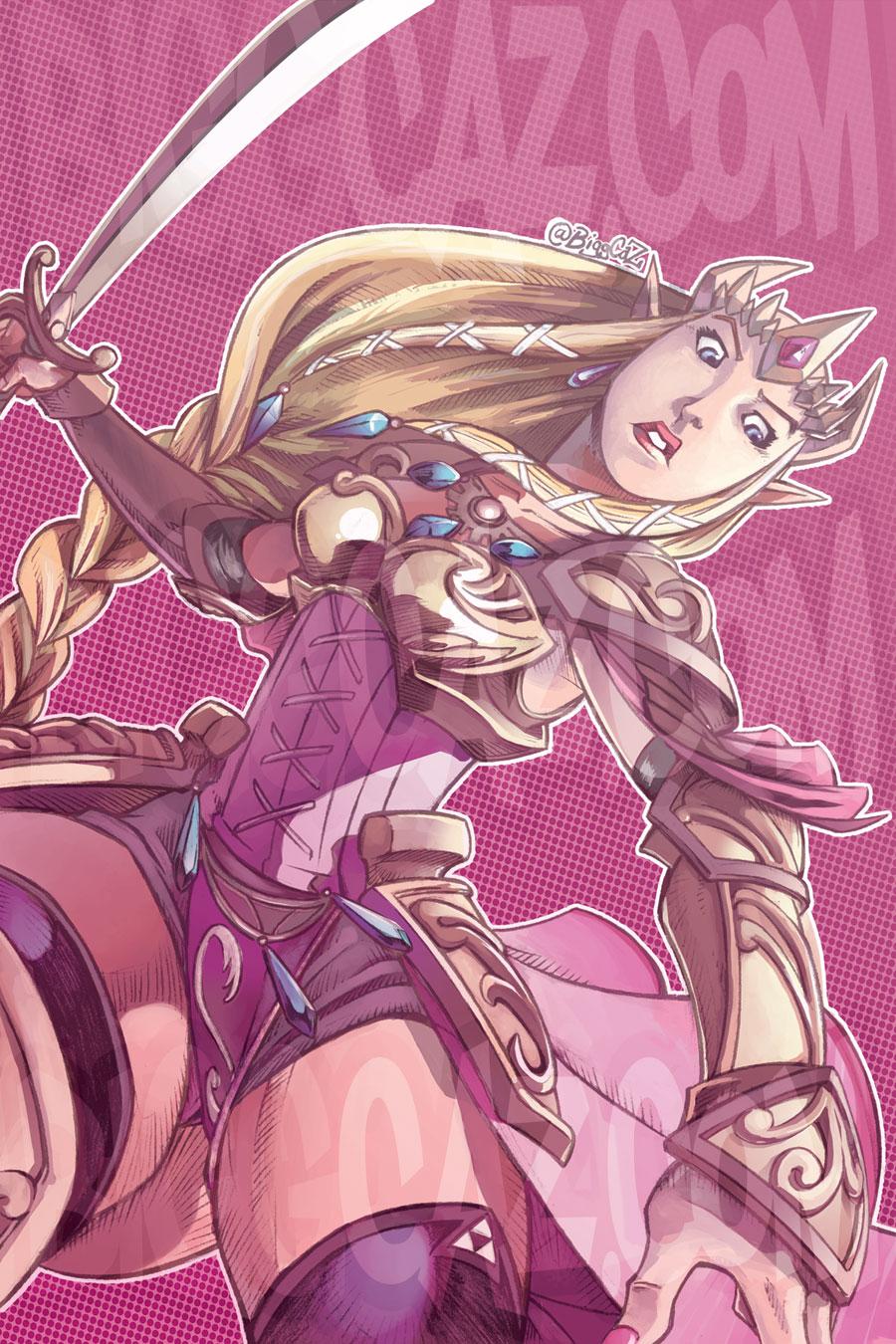 The Hyrule Princess Warrior: Zelda